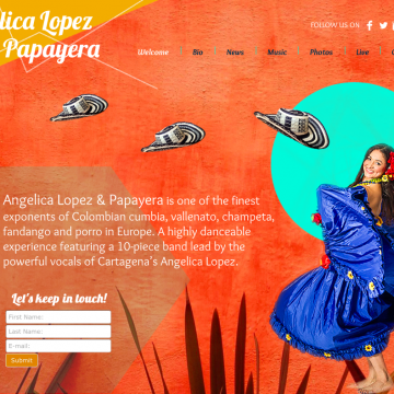Designed website for Angelica Lopez & Papayera