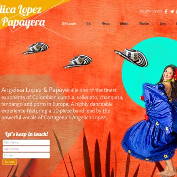 Designed website for Angelica Lopez & Papayera
