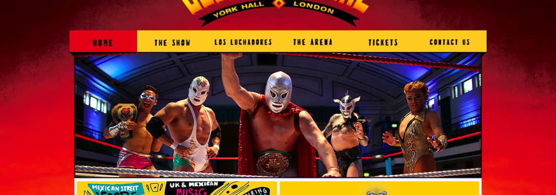 Website for Lucha Libre World