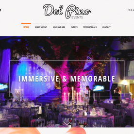 Del Pino Events new website