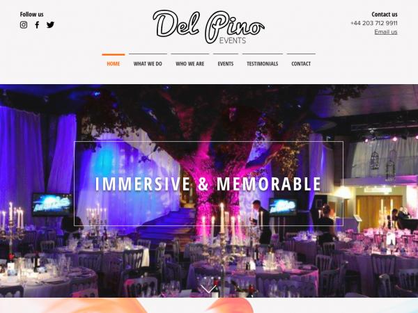 Del Pino Events new website